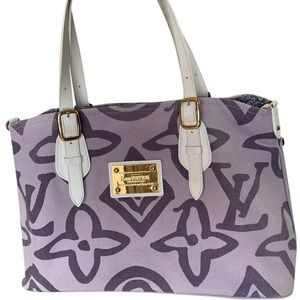 Authentic Louis Vuitton Limited Edition Lilac Tahitienne Cabas PM tote